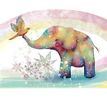 The Indigo Elephant Photographic Print