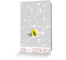 USMNT v Costa Rica The Hex Greeting Card