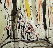 cliff ledge.... red falls by banrai