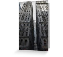 NYC trading places Greeting Card
