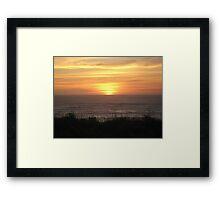 Washington Sunset Framed Print