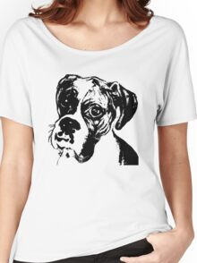Boxer Eyes Graphic ~ black  Women's Relaxed Fit T-Shirt
