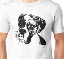 Boxer Eyes Graphic ~ black  Unisex T-Shirt