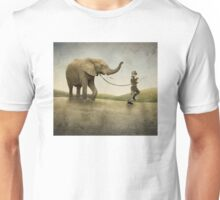 An Elephant and his Boy Unisex T-Shirt