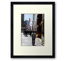 Homeless on 5th Avenue Framed Print