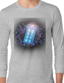 Wibbly-Wobbley Timey-Watercolor Long Sleeve T-Shirt
