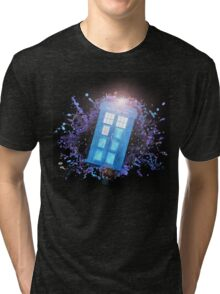 Wibbly-Wobbley Timey-Watercolor Tri-blend T-Shirt