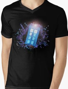 Wibbly-Wobbley Timey-Watercolor Mens V-Neck T-Shirt