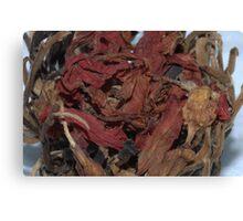 Dried Tea.... Canvas Print