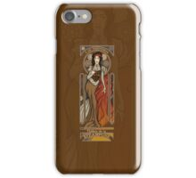Steampunk Nouveau- Brown iPhone Case/Skin