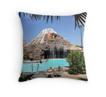 Polynesian Pool Throw Pillow