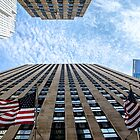 NYC sky view from the street by Jean-Michel Dixte