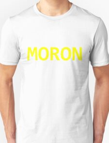 MORON - Yellow Text T-Shirt