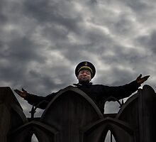 Security guard on top of the world by Jean-Michel Dixte