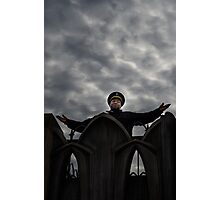 Security guard on top of the world Photographic Print