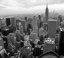 New York skyline from the Rockefeller building by Jean-Michel Dixte