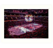 Capitals in Washington DC ice rink Art Print