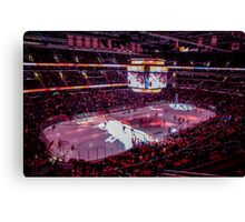 Capitals in Washington DC ice rink Canvas Print