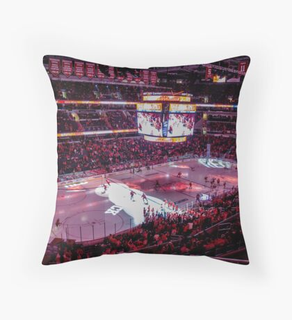Capitals in Washington DC ice rink Throw Pillow