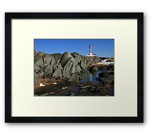 Sunny March Day at Cape Forchu Framed Print