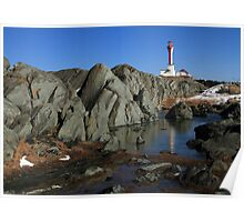 Sunny March Day at Cape Forchu Poster