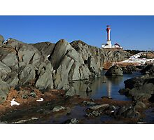 Sunny March Day at Cape Forchu Photographic Print