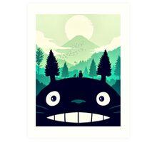 【7400+ views】Totoro Mountain Art Print