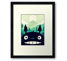 【7400+ views】Totoro Mountain Framed Print