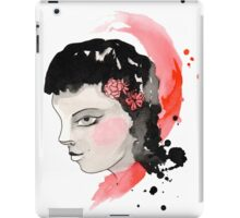 Blushing Watercolor Girl iPad Case/Skin