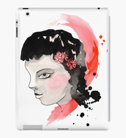 Blushing Watercolor Girl iPad Case/Skin