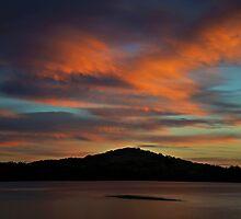 Fluffy Swansea Sunset by bazcelt