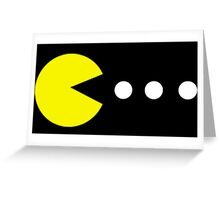 Pac Man Greeting Card