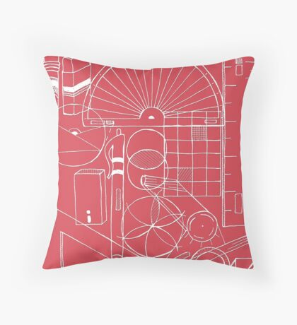 Math & Science Tools 1 Throw Pillow