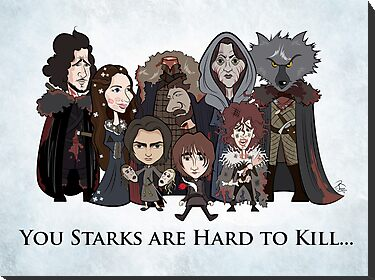 (Book 5 SPOILERS) Stark Family Portrait by JenSnow