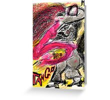 Tango Argentino. Drawing Andrzej Goszcz And Adela. was featured in Diversuality – Queer and Gender… Greeting Card