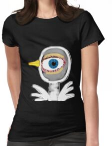 WATCHING YOU TEE/STICKER Womens Fitted T-Shirt