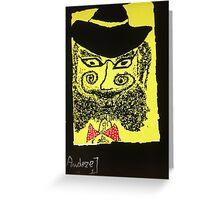 """Doctor Goldfish Krakauer. drawing by Andrzej Goszcz. Author:  Andrzej Goszcz , nickname """" Brown Sugar"""" . Greeting Card"""
