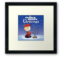 CHRISTMAS WITH CHARLIE BROWN TREE Framed Print