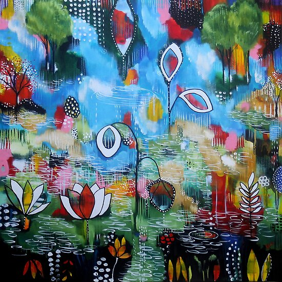 Stain Glassed Landscape I by Rachel Ireland-Meyers