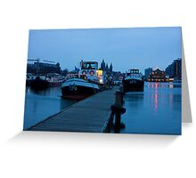 Port Of Amsterdam Before Dawn Greeting Card