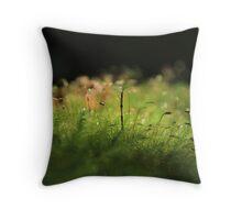 Seedling in Moss Throw Pillow