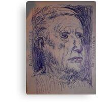Picasso sketch -(250313)- A5 sketchpad/Blue biro pen Canvas Print