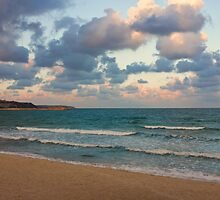 Black Sea Coast near Varna at Dusk by kirilart