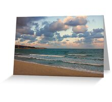 Black Sea Coast near Varna at Dusk Greeting Card