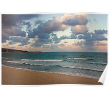 Black Sea Coast near Varna at Dusk Poster