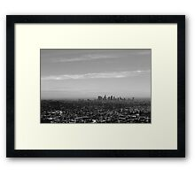 LA From Griffith Observatory Framed Print