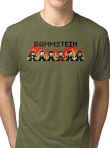 Rammstein 8-bit Flame Tri-blend T-Shirt