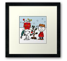SNOOPY CHARLIE BROWN CHRISTMAS Framed Print