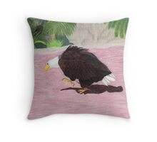 Lonely Eagle Throw Pillow