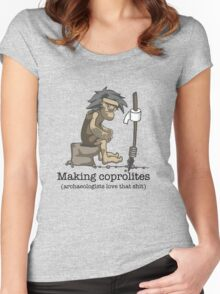 Making coprolites Women's Fitted Scoop T-Shirt